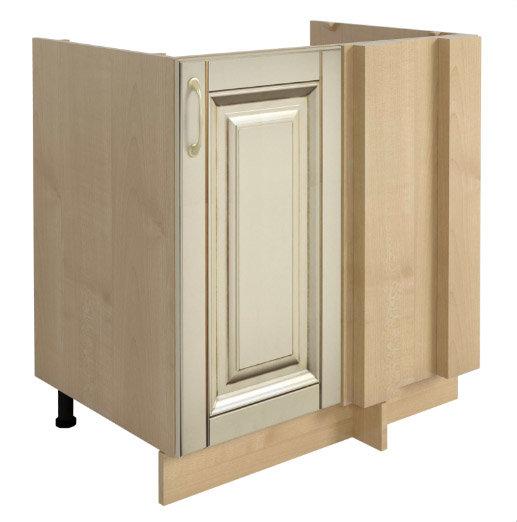 Долен кухненски шкаф H 80x87 ъглов